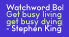 Watchword Bold Demo