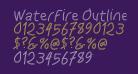 WaterFire Outline Oblique