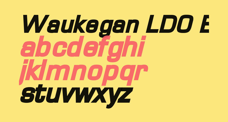 Waukegan LDO Black Oblique