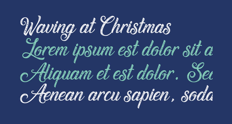 Waving at Christmas