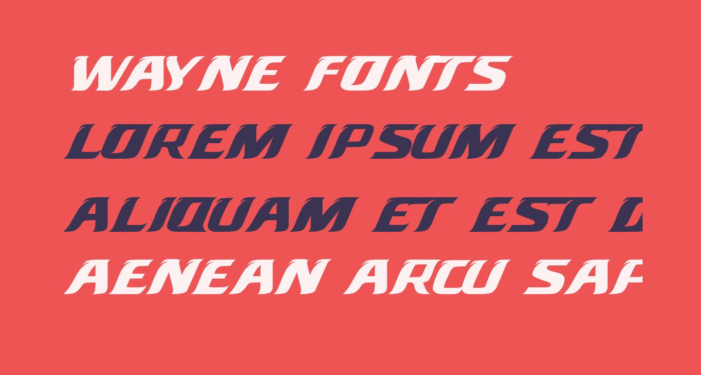 Wayne Fonts