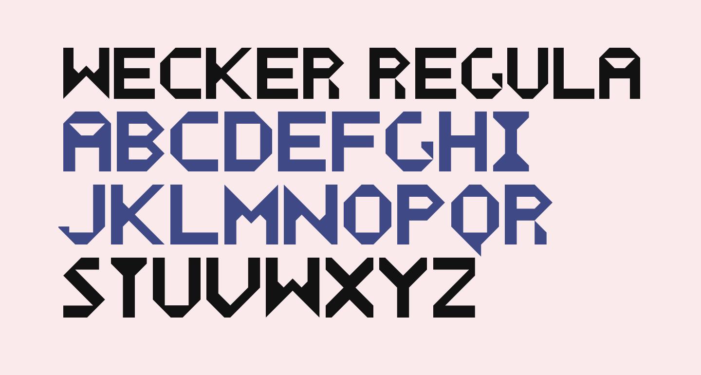 WECKER Regular