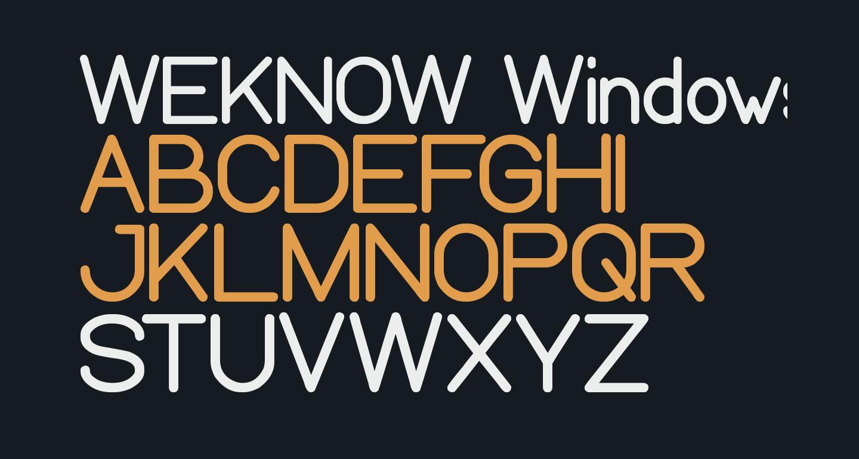WEKNOW Windows
