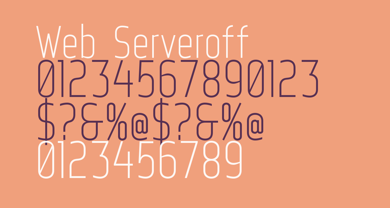 Web Serveroff