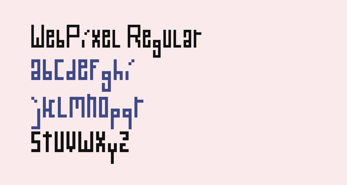 WebPixel Regular