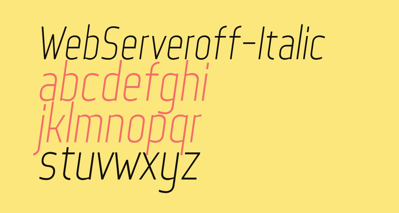 WebServeroff-Italic