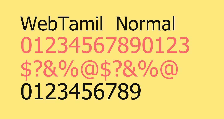 WebTamil Normal