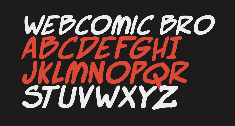 Webcomic Bros Italic