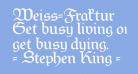 Weiss-Fraktur