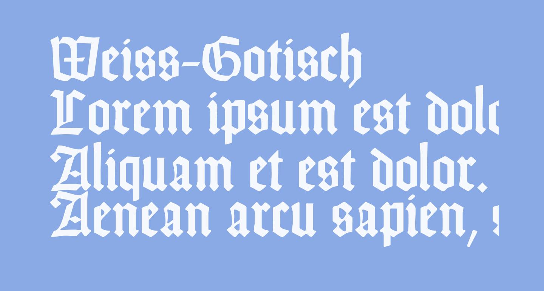 Weiss-Gotisch