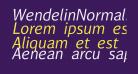 WendelinNormalKursiv