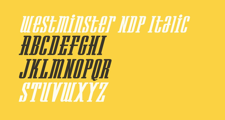 Westminster NDP Italic
