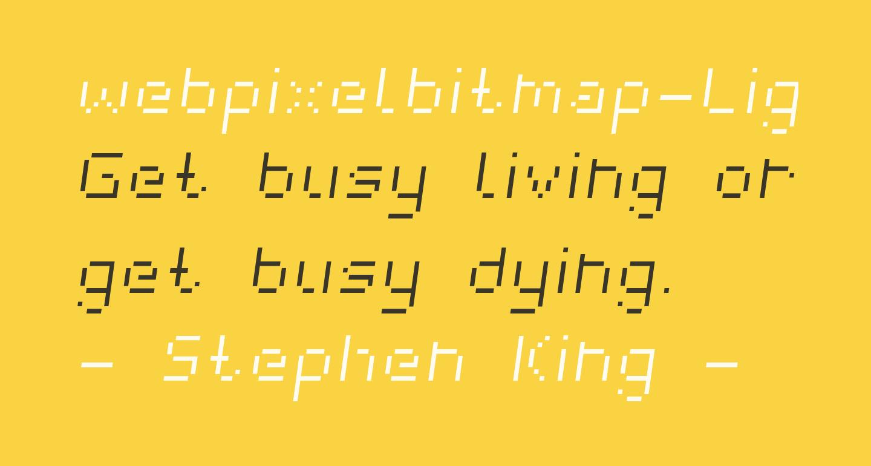 webpixelbitmap-LightItalic