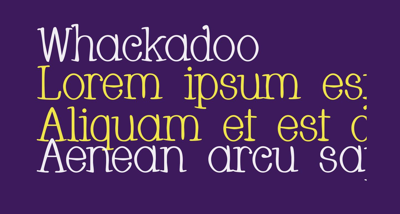 Whackadoo