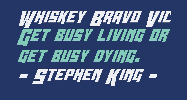 Whiskey Bravo Victor Condensed
