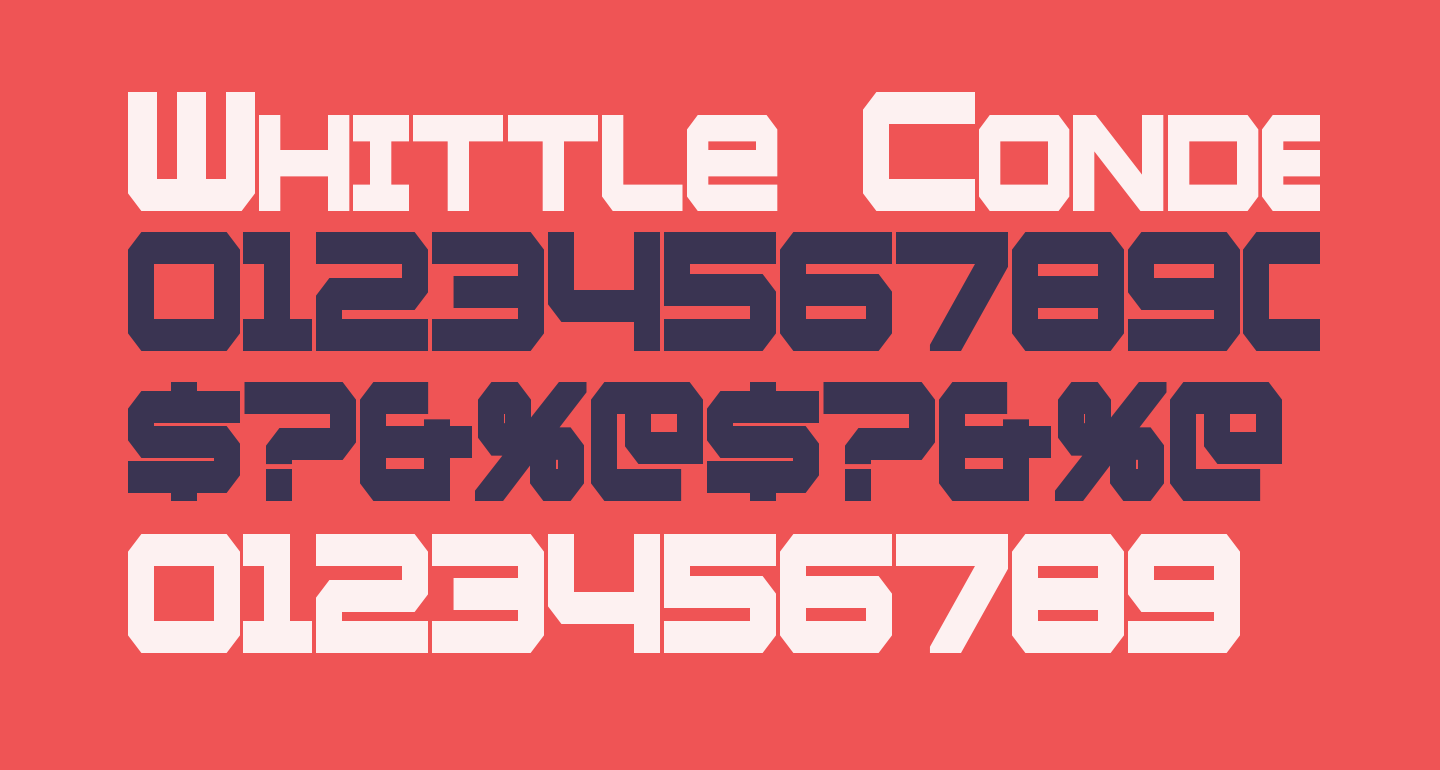 Whittle Condensed Bold