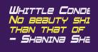 Whittle Condensed Italic