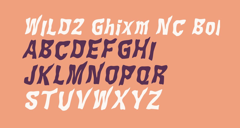 WILD2 Ghixm NC Bold Italic