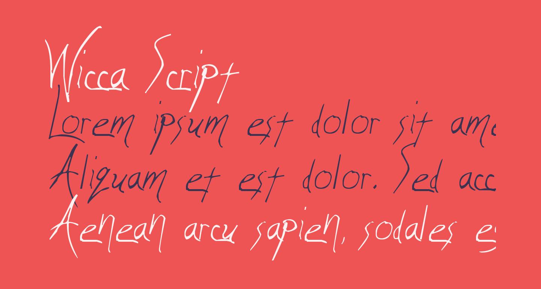 Wicca Script