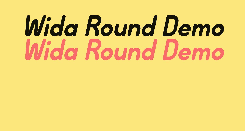 Wida Round Demo Bold Italic
