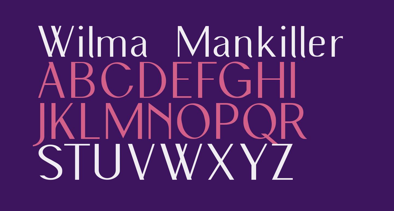 Wilma Mankiller old Light SemiCondensed