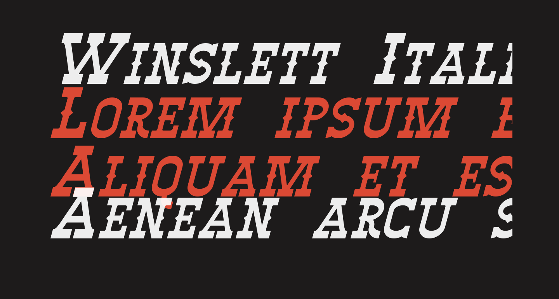 Winslett Italic