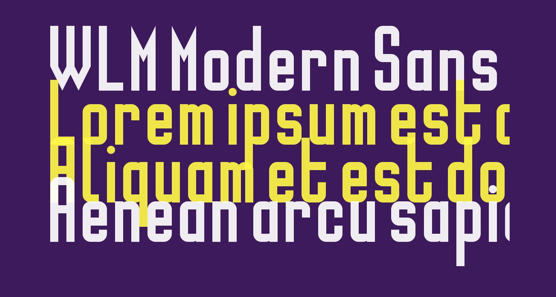 WLM Modern Sans Regular
