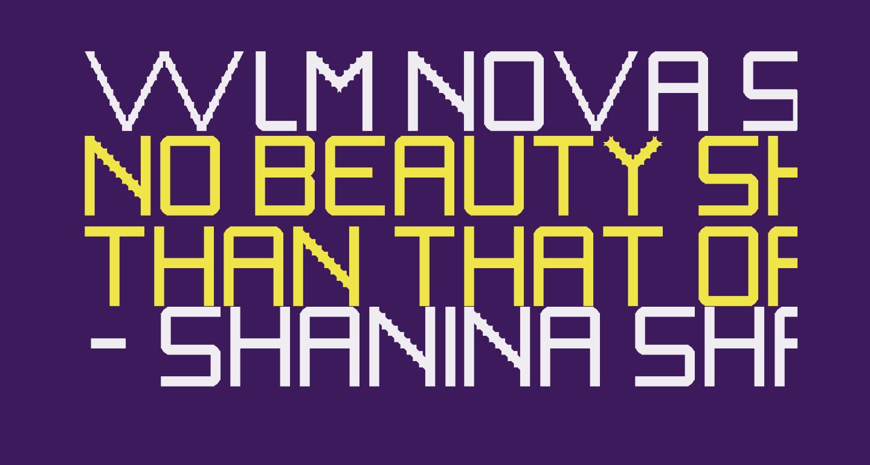 WLM Nova Sans Bold Regular
