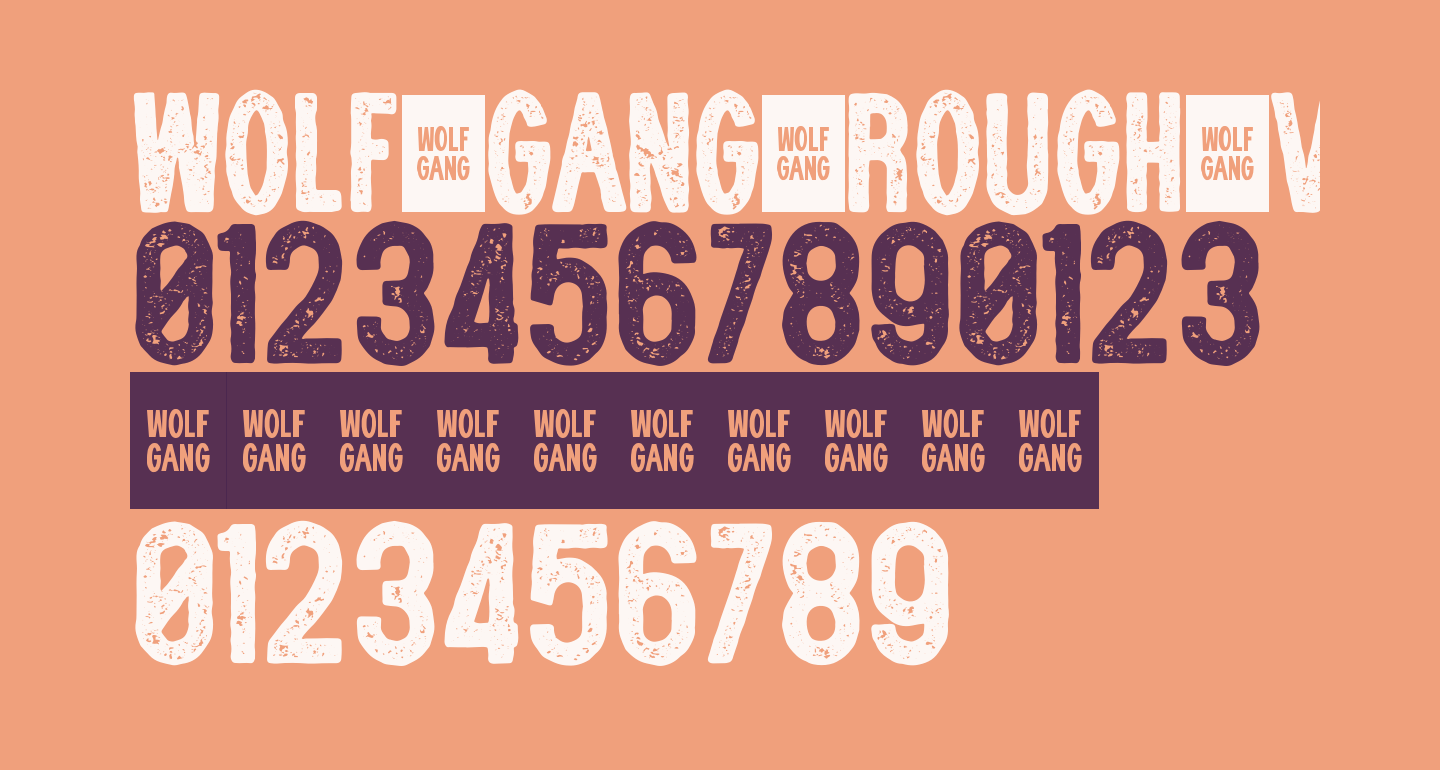 WOLF GANG ROUGH VINTAGE BOLD