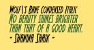 Wolf's Bane Condensed Italic