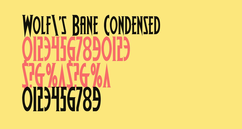 Wolf's Bane Condensed