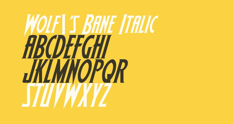 Wolf's Bane Italic