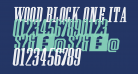 Wood Block One Italic