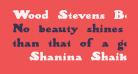 Wood Stevens Bold