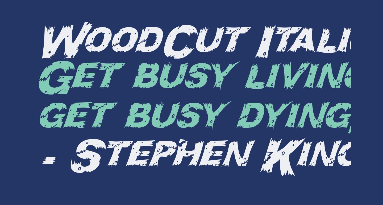 WoodCut Italic
