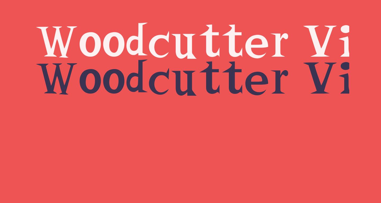 Woodcutter Vintage Cartoon Bold
