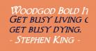 Woodgod Bold Italic
