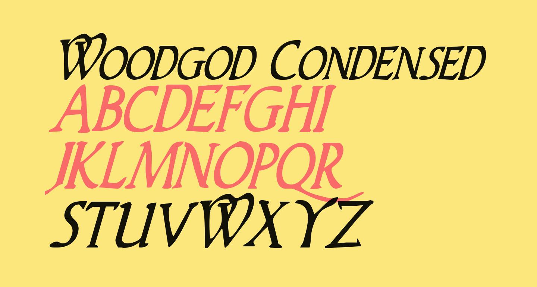 Woodgod Condensed Italic