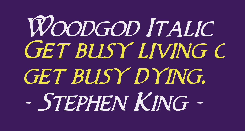 Woodgod Italic