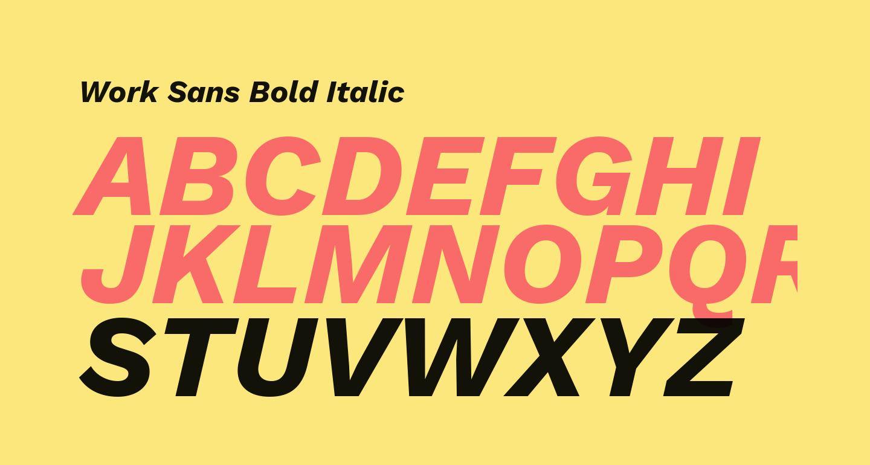 Work Sans Bold Italic