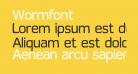 Wormfont