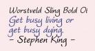Worstveld Sling Bold Oblique