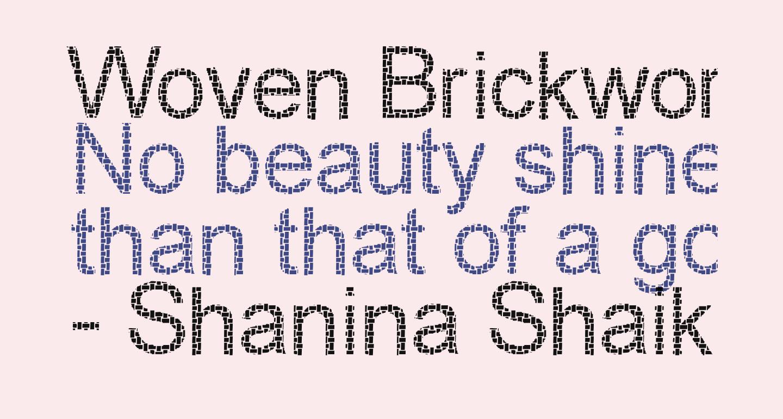 Woven Brickwork