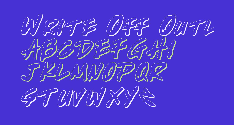 Write Off Outline