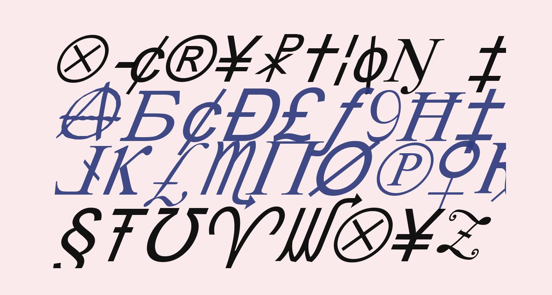 X-Cryption Italic