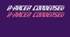 X-Racer Condensed Italic