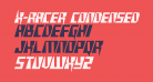 X-Racer Condensed