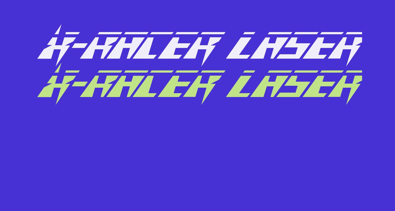 X-Racer Laser Italic