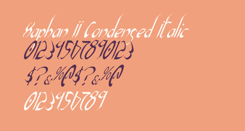 Xaphan II Condensed Italic
