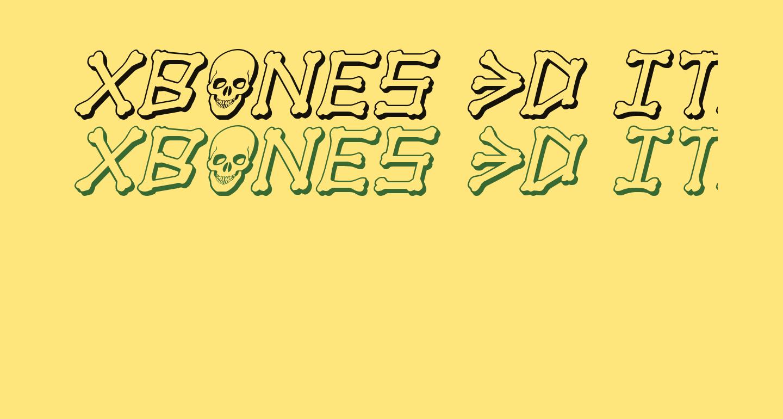 xBONES 3D Italic